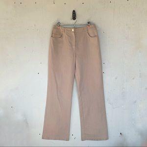 St. John Sport Khaki Straight Pants